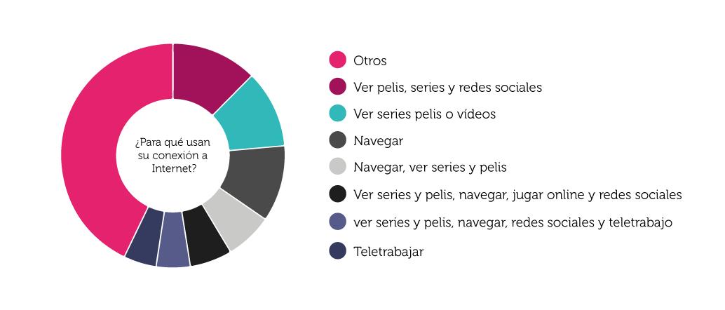 Gráfica sobre el uso de Internet entre nuestros usuarios