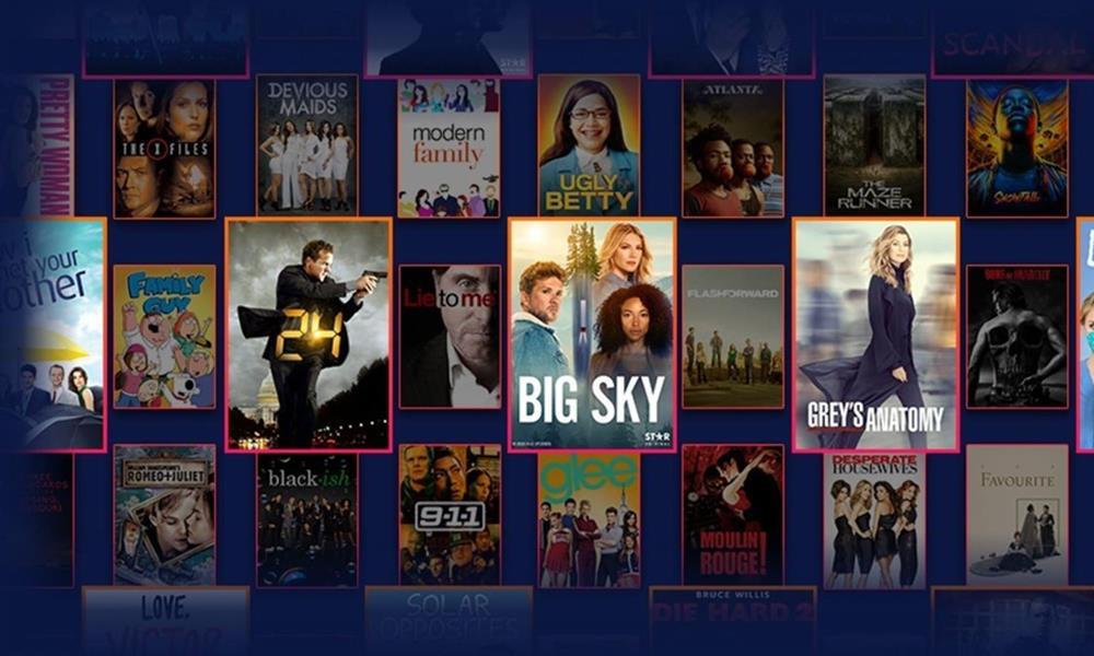 Este es el catálogo de series y películas de Star
